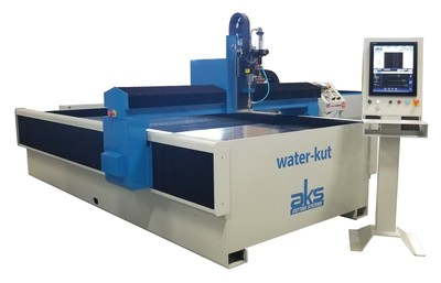 The AKS water-kut X2 waterjet machine offers superior performance  cutting aluminum, titanium, stainless steel, metal, rubber, glass, granite, stone, marble, composites, plastic, foam and much more.