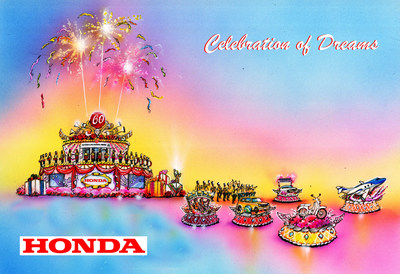 "Honda's ""Celebration of Dreams"" float entry will lead the 130th Rose Parade® on January 1, 2019, paying tribute to the company's 60-year heritage in the U.S."