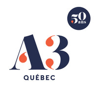 Logo : A3 Québec (Groupe CNW/Association québécoise des agences de vins, bières et spiritueux (AQAVBS))