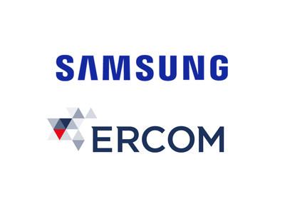 Samsung and Ercom logos