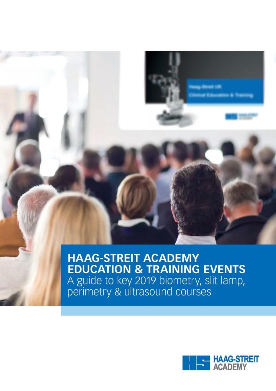 Haag-Streit Academy 2019 Education brochure and calendar (PRNewsfoto/Haag-Streit UK)