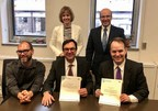 Higher row, from left to right: Nathalie Laliberté and Stéphan Déry; Lower row, from left to right:  Ryan Fraser, Kevin Kee and Steven MacKinnon (CNW Group/Public Services and Procurement Canada)
