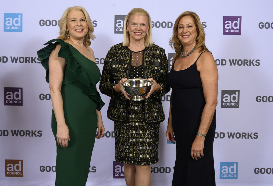 Linda Boff, Ginni Rometty, Lisa Sherman - Ad Council Dinner 2018