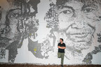"""Urban artist, Alexandre Farto – aka """"Vhils"""", celebrates another exciting milestone: the debut of his first-ever solo show """"Ethereal"""" inside The Wynwood Walls. Showing through February 2019, """"Ethereal"""" debuted at the GGA Gallery on November 30, 2018 with a facade takeover and 28 unique pieces by the artist."""