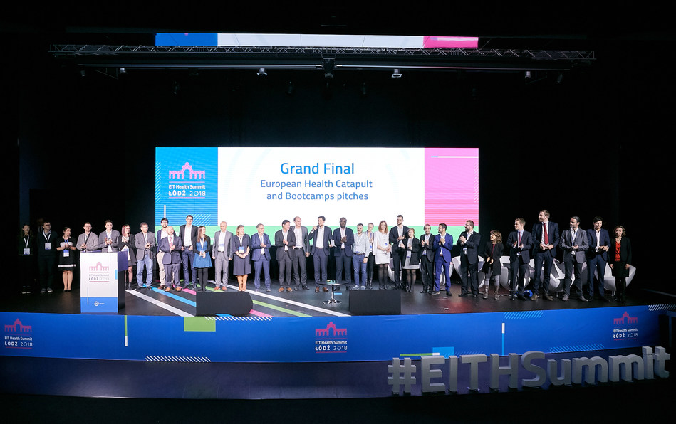 Europe's top healthcare start-ups in Biotech, Medtech and Digital Health win cash and recogniton at EIT Health Summit (PRNewsfoto/EIT Health)
