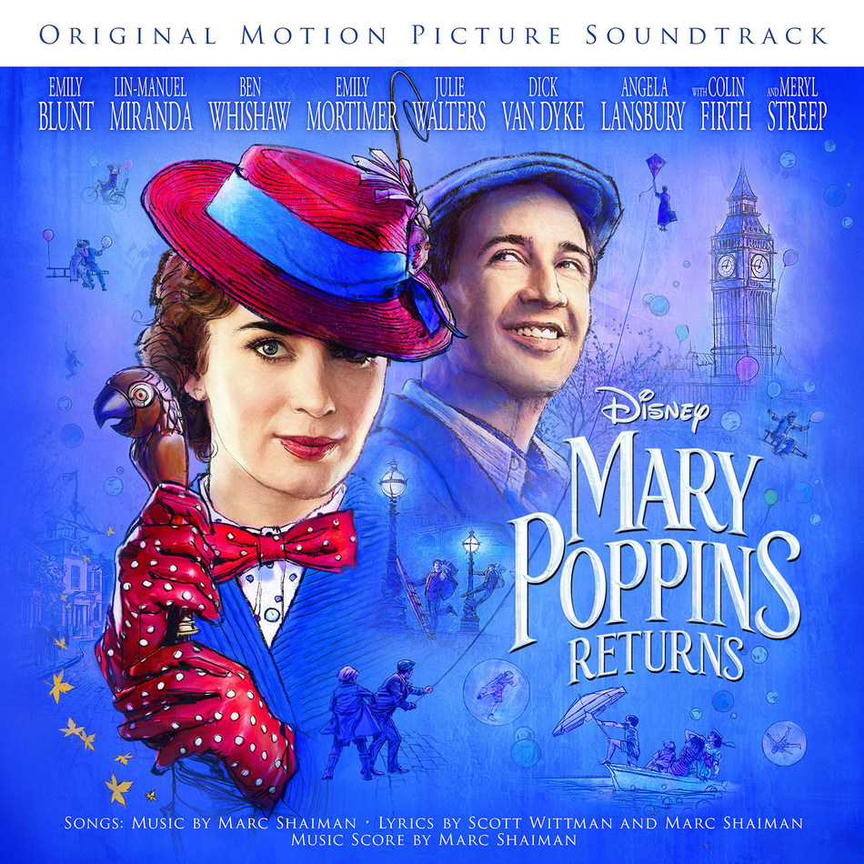 Mary Poppins Returns soundtrack cover art.
