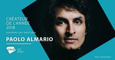 Paolo Almario, photo de Patrick Simard (Groupe CNW/Conseil des arts et des lettres du Québec)