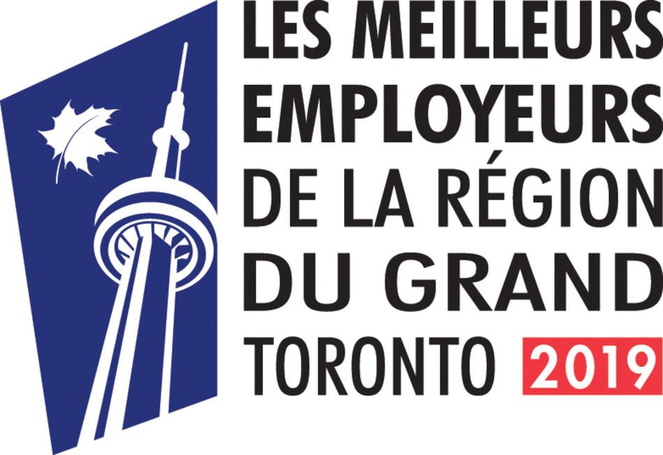 Les meilleurs employeurs de la région du Grand Toronto 2019 (Groupe CNW/VISA Canada Corporation)