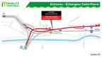 Entraves – Échangeur Saint-Pierre (Groupe CNW/Ministère des Transports)