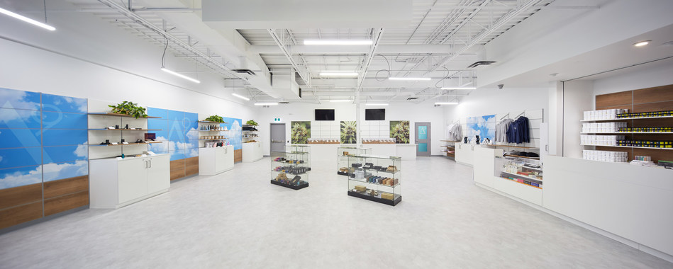 Design of the new cannabis retail outlet in Brandon will be similar to the Delta 9 Cannabis 'Super Store' in the St. Vital area of Winnipeg, Manitoba. (CNW Group/Delta 9 Cannabis Inc.)