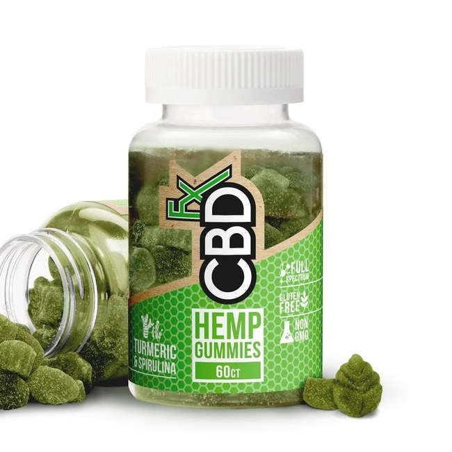 CBD Gummies with Turmeric & Spirulina - Antioxidant