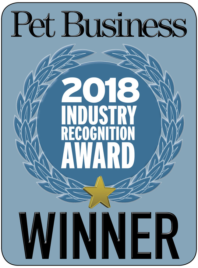 BoxiePro cat litter won the 2018 Pet Business Industry Recognition Award