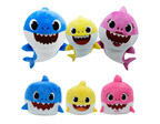 The Baby Shark video, created by Pinkfong, has been viewed more than 3.3 billion times and sparked the #BabySharkChallenge* on social media. Showcase, Home of the Hottest Trends, has thousands of the Baby Shark plush toys (top) and stackable cubes (bottom) arriving at its 116 stores in Canada and the U.S. before the holidays. (CNW Group/Showcase stores)