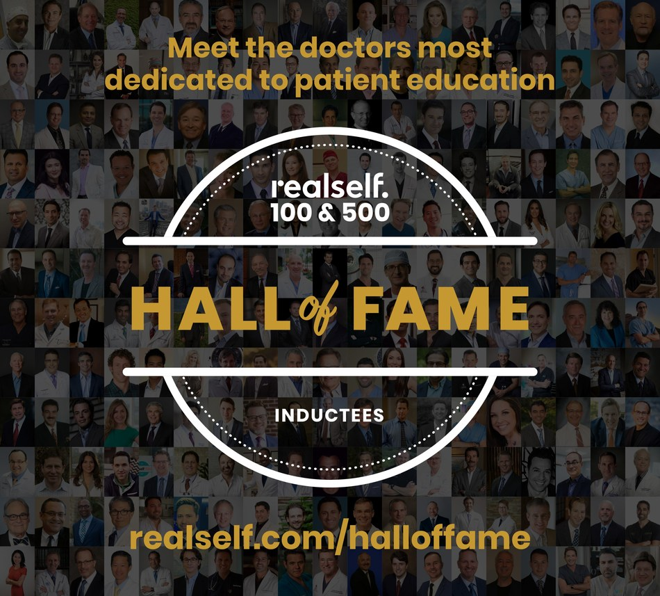 RealSelf Hall of Fame Unveiled: RealSelf Honors Top 1,000 Highest-Rated and Most Engaged Aesthetic Doctors