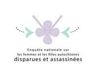 Logo : Enquête nationale sur les femmes et les filles autochtones disparues et assassinées (Groupe CNW/Enquête nationale sur les femmes et les filles autochtones disparues et assassinées)