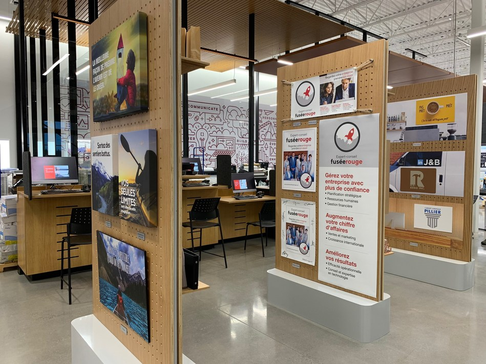 Solution Shop at the new Bureau en Gros store in Kirkland, Quebec (CNW Group/Staples Canada Inc.)