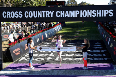 Cole Hocker of Indianapolis captured first place in the boys race at the 40th annual Foot Locker Cross Country Championships (FLCCC) National Finals Presented by Eastbay at Morley Field, Balboa Park in San Diego On Dec. 8, 2018. (PRNewsfoto/Foot Locker, Inc.)