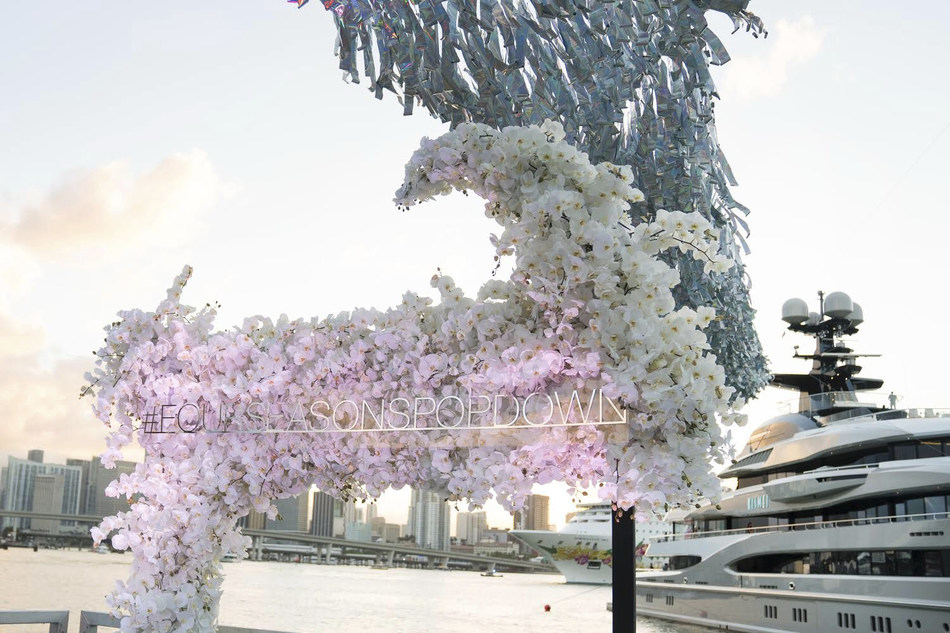 Four Seasons Pop Down Miami took place on board KISMET, a custom designed superyacht, against the backdrop of the city's annual celebration of art.