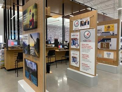 Centre de solutions au nouveau magasin Bureau en Gros à Kirkland, au Québec (Groupe CNW/Staples Canada/Bureau en Gros)