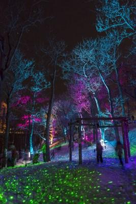 Photos prises lors du pour le Festi Lumière 2017 (Groupe CNW/Société des établissements de plein air du Québec)