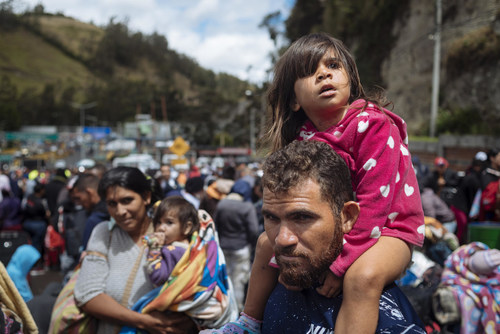 """Today's adoption of the Global Compact for Safe, Orderly and Regular Migration is a historic achievement for migrant children and States alike. For the very first time, children are being recognized as central to migration management."""" © UNICEF/UN0247721/Arcos (CNW Group/UNICEF Canada)"""