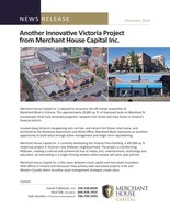 Merchant House Capital Inc. news release re: Blanshard Block, Victoria (CNW Group/Merchant House Capital)