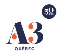Logo: A3 Québec (CNW Group/Association québécoise des agences de vins, bières et spiritueux (AQAVBS))