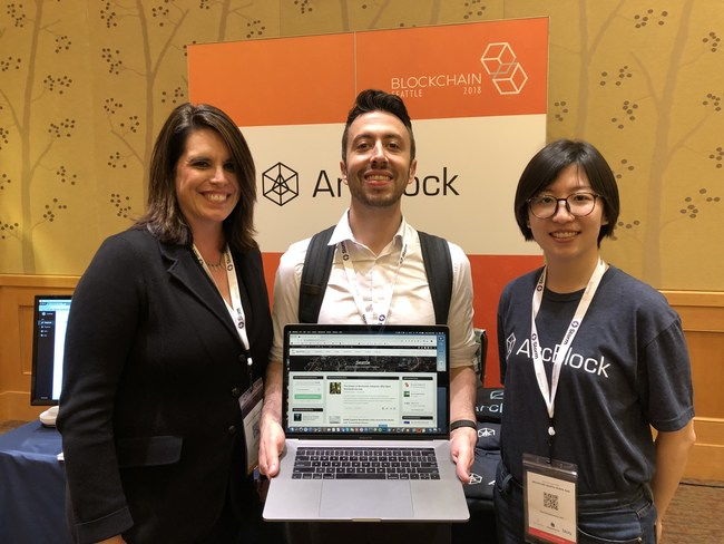 CryptoSlate CEO Nate Whitehall with the ArcBlock blockchain team