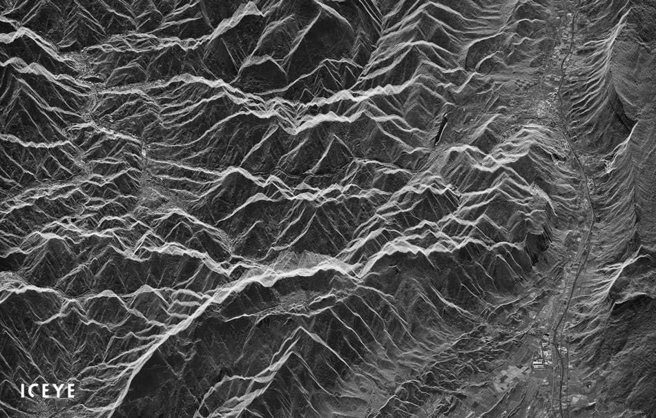First radar image from ICEYE-X2 of Natural Parks Aralar and Aizkorri-Aratz, Spain.