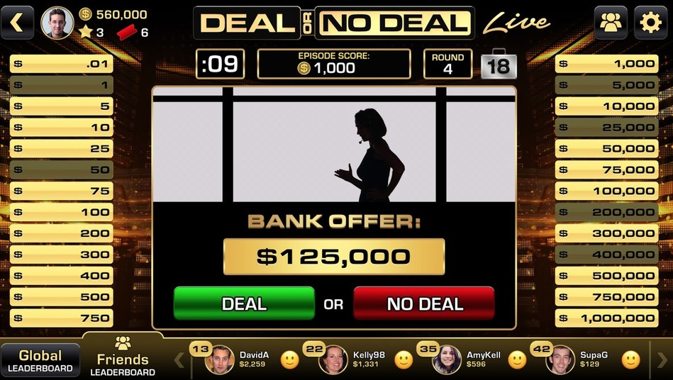 """Deal Or No Deal Live,"" The Game Show's First Live Play-Along App, Available Now for Free on iOS and Android. ""Deal Or No Deal"" airs Wednesdays on CNBC."