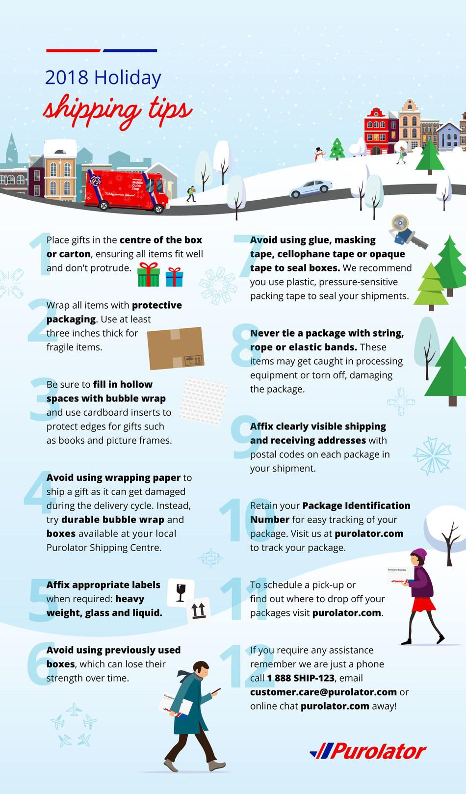 2018 Holiday shipping tips (CNW Group/Purolator Inc.)
