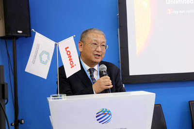 Li Zhenguo, president of LONGi Green Energy Technology Co., Ltd