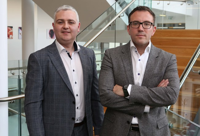 AuriGen Medical founders Tony O'Halloran and Dr. John Thompson (L-R)