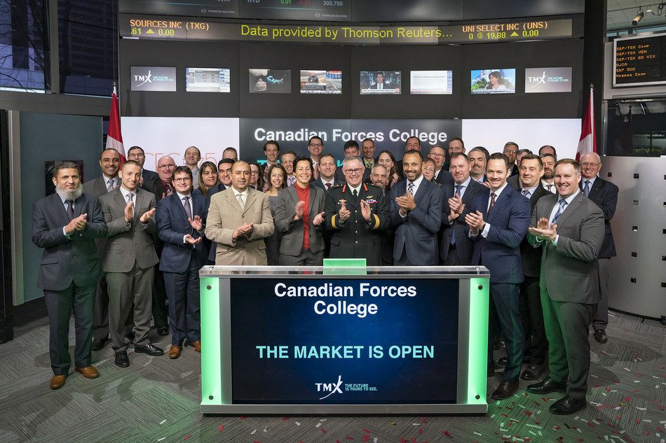 Canadian Forces College Opens the Market (CNW Group/TMX Group Limited)