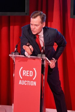 Oliver Barker during the third (RED) Auction
