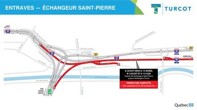 2-Entraves − Échangeur Saint-Pierre (Groupe CNW/Ministère des Transports)