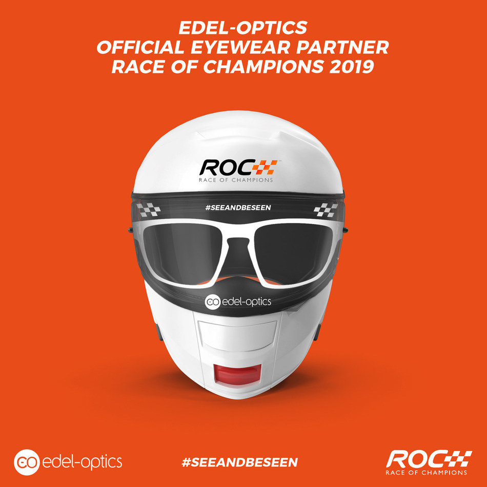 Online Optician Edel-Optics is official eyewear partner of the Race of Champions 2019 in Mexico, Fotocredit: Edel-Optics/Race Of Champions (PRNewsfoto/Edel-Optics)