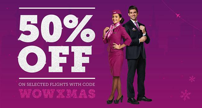 WOW air Christmas promo code (CNW Group/WOW air)