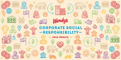 The Wendy's Company announces a major advancement in beef sourcing as part of its 2018 corporate social responsibility progress report.