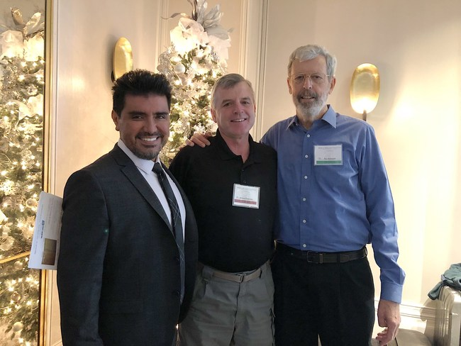 Dr Jose-Luis Ruiz, Dr. Bertolotti, and Dr. Wendell Robertson the Co-Founder of the Academy of Biomimetic Dentistry