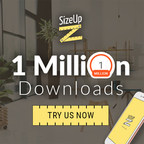 SizeUp™ joins an impressive list of applications to reach one million downloads early on in its existence