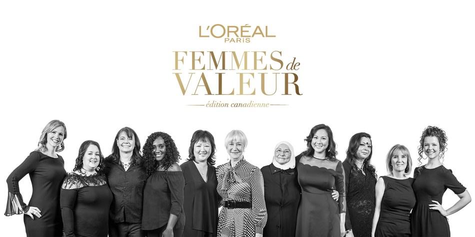 Dame Helen Mirren et les Femmes de Valeur mises en nomination pour 2018. (Crédit photo : L'Oréal Paris a/s Ryan Emberley) (Groupe CNW/L'Oréal Paris Canada)