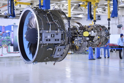 Pratt & Whitney and Mitsubishi Heavy Industries Aero Engines Ltd. celebrate the first PW1200G engine assembly completed at MHIAEL facility in Komaki, Japan.