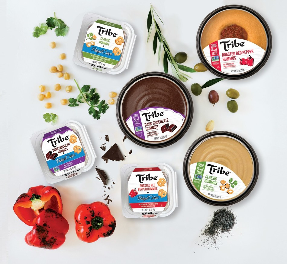 Tribe savory and sweet hummus including on-the-go products. Lakeview Farms acquired Tribe Mediterranean Foods on December 10, 2018.