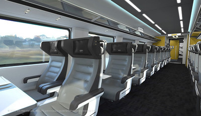 VIA Rail Photo Train Interior Business A (CNW Group/VIA Rail Canada Inc.)