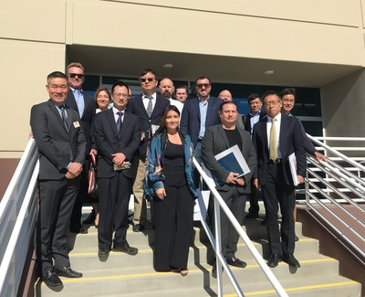 Qiantu and Mullen Technologies teams in Moreno Valley