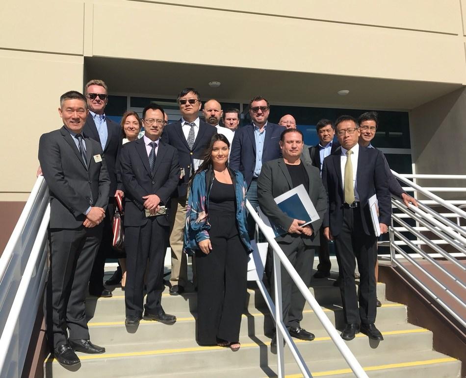 Qiantu and Mullen Technologies teams in Moreno Valley