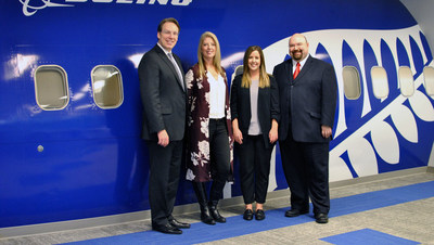 Canadian Tourism College and Contiki Mangement team. From left to right Benjamin Colling, Sheralyn Berry, Kelsey Gostelow, Milan Petrovich. (CNW Group/Canadian Tourism College)