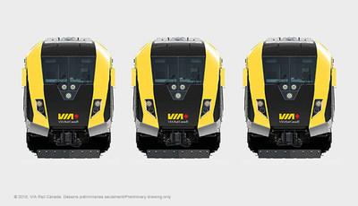 VIA Rail Photo Train Exterior Face (Groupe CNW/VIA Rail Canada Inc.)