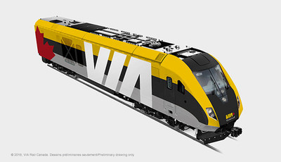 VIA Rail Photo Train Exterior Side (Groupe CNW/VIA Rail Canada Inc.)